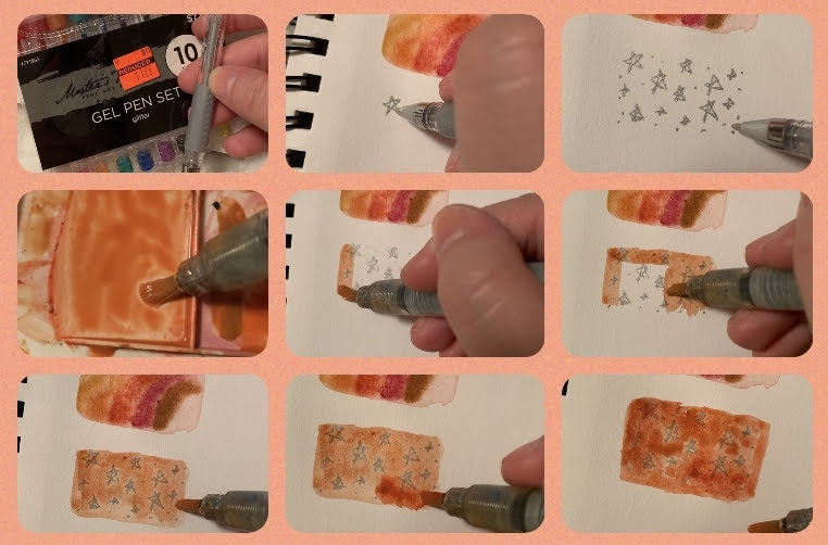 Watercolor resistance paint example