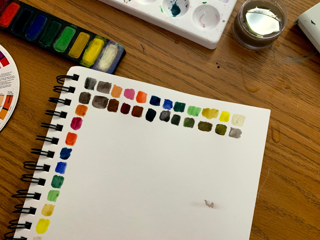 Color chart continuation picture